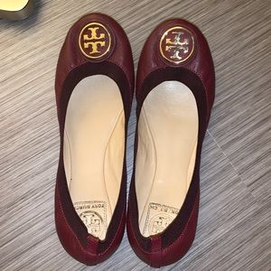 Tory Burch Caroline valley flat burgundy